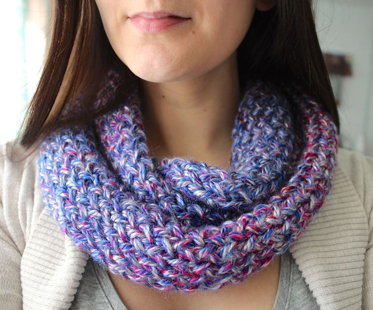 This infinity scarf is a quick and easy knitting project that you can do on a rectangular or round loom - whatever you have around! I've been working ...