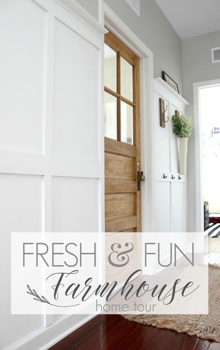 Take a Farmhouse Flavored Home Tour today! Shiplap and Board and Batten, along with Aqua Accents keep this Delightfully Noted Chicago home Fresh and Fun!