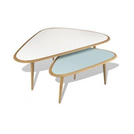 Tables basses gigognes Fifties couleurs Hodkinson, David : Meubles design RED Edition - Design Ikonik