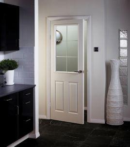 Wickes 6 Light Internal Moulded Door White Glazed Primed Grained 1981 x 762mm | Wickes.co.uk