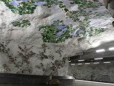 Konst på Näckrosens tunnelbanestation.