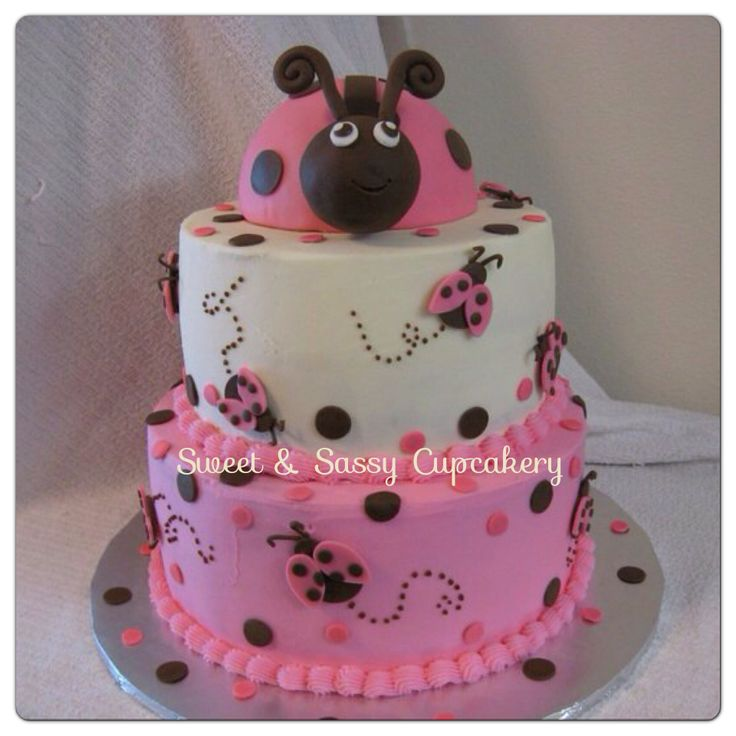 girl cakes baby cakes baby shower cakes ladybug baby showers baby