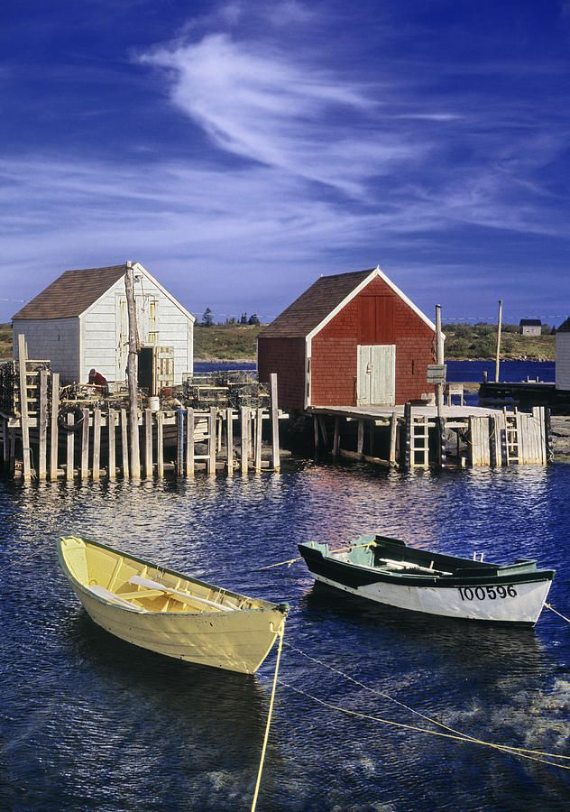 ✮ Blue Rocks Harbour, Blue Rocks, Nova Scotia, Canada