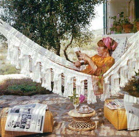 slim aarons -  that hammock!