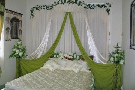 Indian bridal room decoration wedding night bedroom Decoration for wedding room