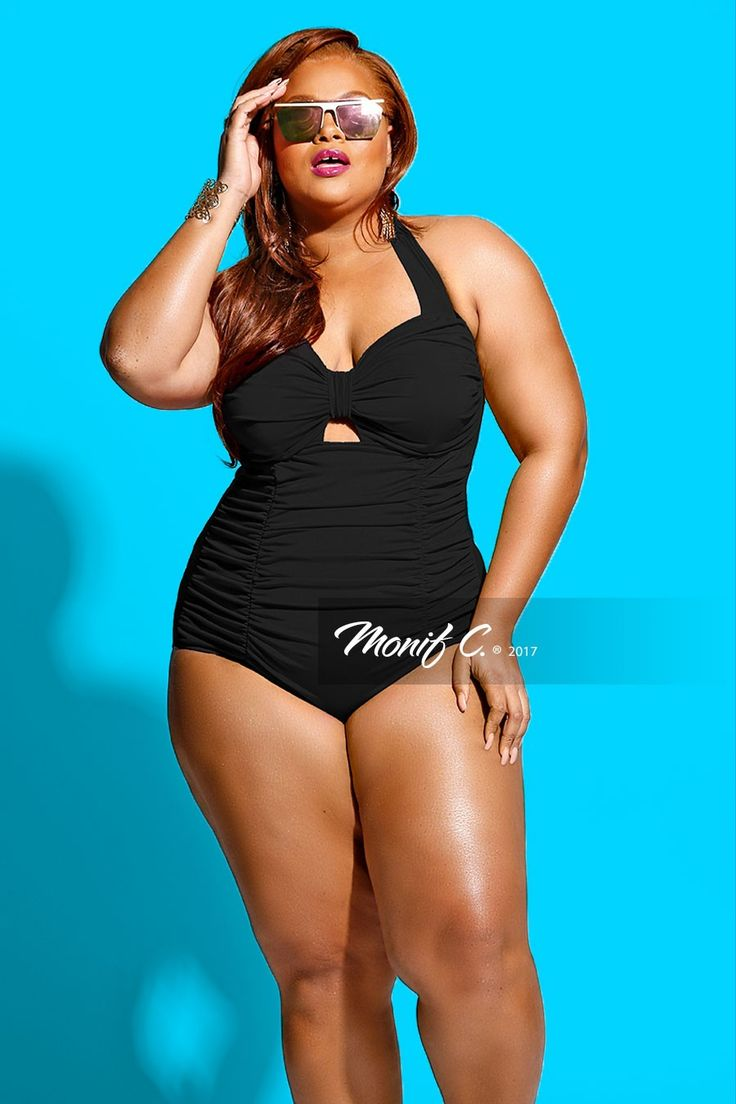 248 best images about Black Plus Size Swimsuits on ...