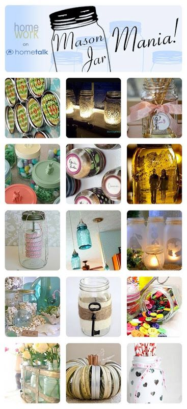 Wonderful mason jar ideas! Click through for the full projects.