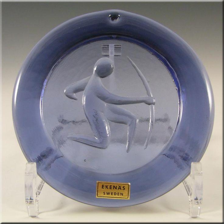 Ekenas Swedish Purple Glass Zodiac 'Sagittarius' Suncatcher - £29.99