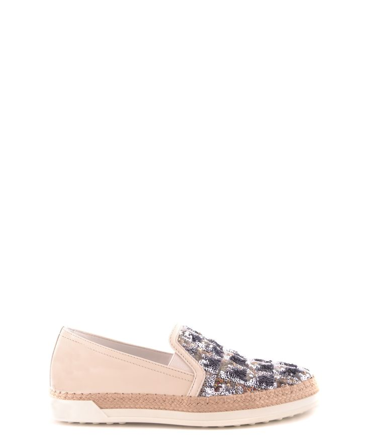 TOD'S | Tod's Women's  White Leather Espadrilles #Shoes #Sandals #TOD'S