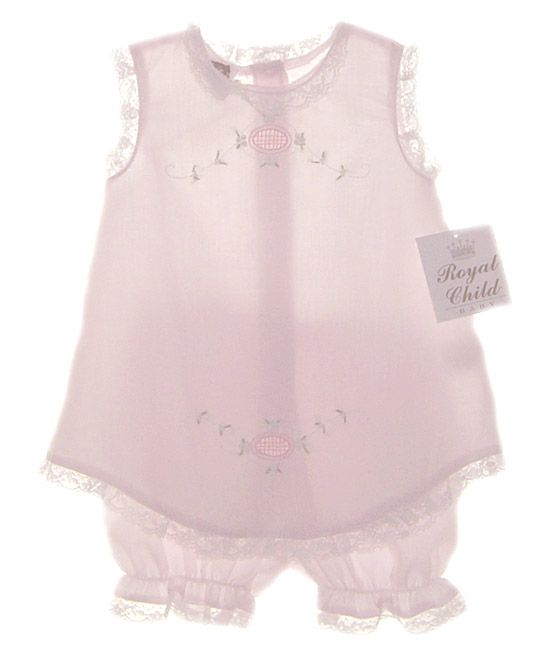NEW Royal Child Pale Pink Embroidered Diaper Shirt with Matching Pantaloons $45.00