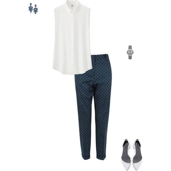 Patterned cropped pants for the win! Perfect for a casual, yet still professional interview outfit.