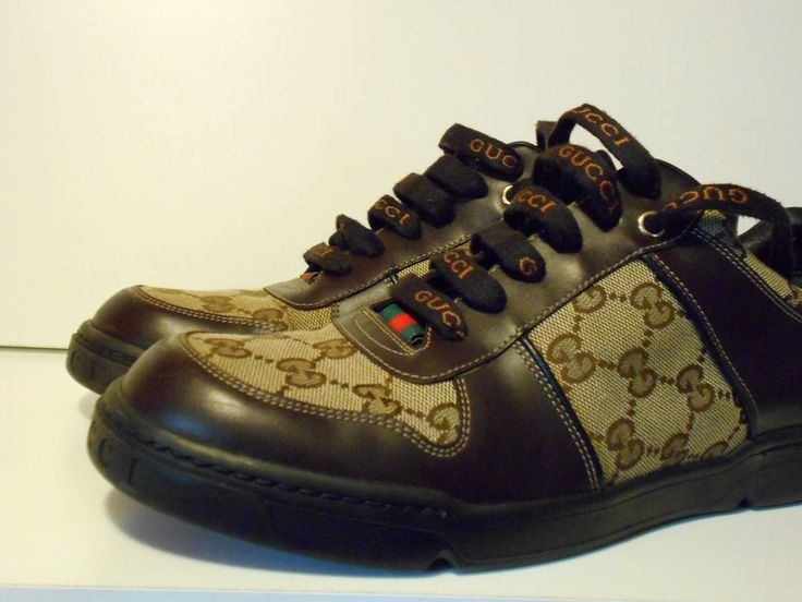 Gucci Shoes Cocoa/Brown Leather Circa 2010 2011 162961 Sneaker Size 7 WITH COA! #Gucci #AthleticInspired