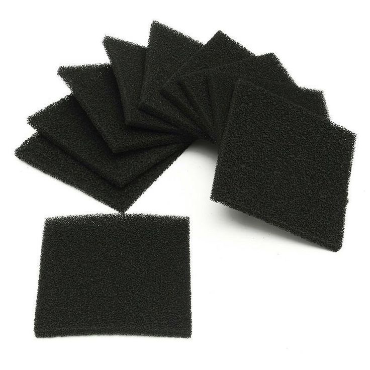 10 pcs Activated Carbon Filter Sponge Solder Smoke Absorber ESD Fume Extractor #Unbranded