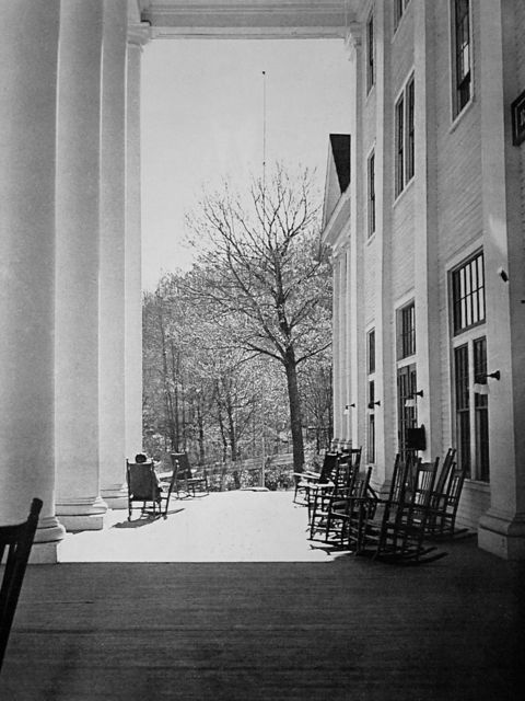 Porch of Lee Hall, Black Mountain College.Tucked in the mountains of Western North Carolina, Black Mountain College (1933-1957) has emerged as one of the most influencial experiments in education. Though short lived, Black Mountain College's unique model inspired and shaped the 20th century American modern art.
