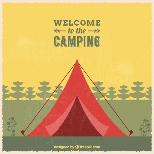 Free vector Welcome to the camping background #13172