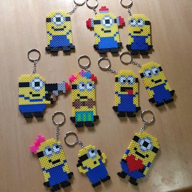 Minion keychains hama beads by danallic_907                                                                                                                                                      More