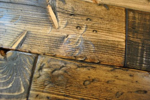 How to make new wood look old.  Excellent info and video tutorial.  This looks like fun! =)
