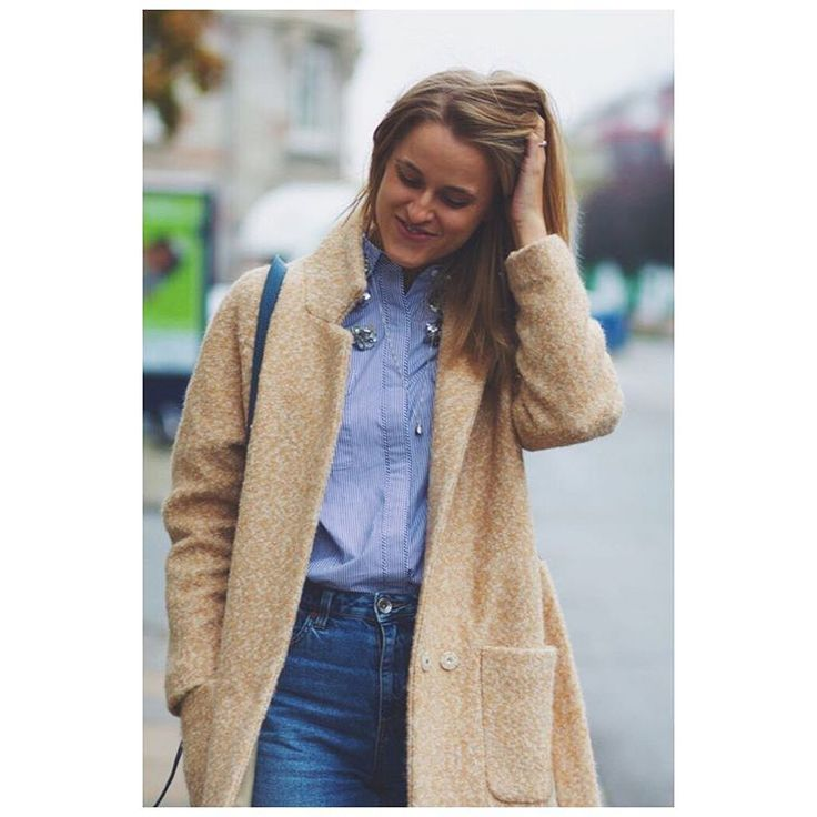 Cathrine Nissen from Rockpaperdresses wearing Ganni Washington St coat