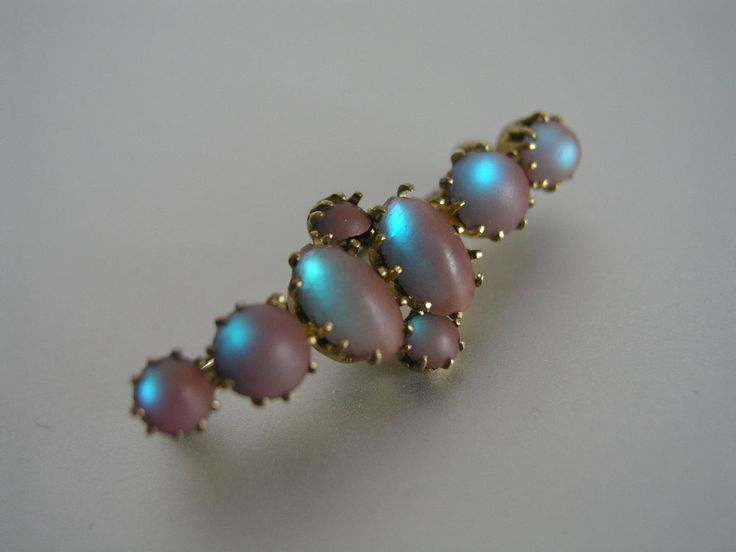 MOST BEAUTIFUL ANTIQUE SAPHIRET BROOCH / PIN - SUPER COLLECTORS PIECE !.1/2 INCH