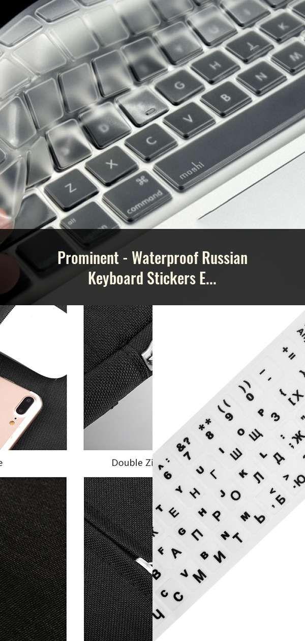 Waterproof Russian Keyboard Stickers English French Letter Alphabet