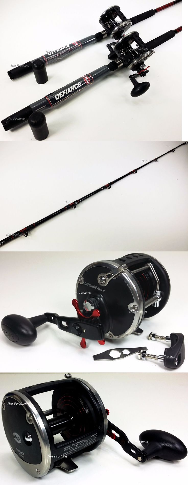 Saltwater Combos 179959: Qty 2 Penn Defiance 66 30-50 Boat Rod 40Lw Conventional Levelwind Fishing Reel -> BUY IT NOW ONLY: $230.0 on eBay!