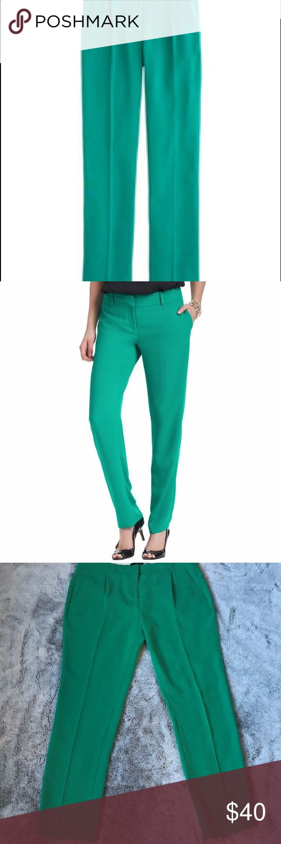"""J. Crew Pleated Crepe Pant J. Crew Pleated Crepe Pant. These gorgeous Kelly green pants are perfect for Spring!! Waist 34"""", inseam 29"""". All measurements are approximate. J. Crew Pants"""