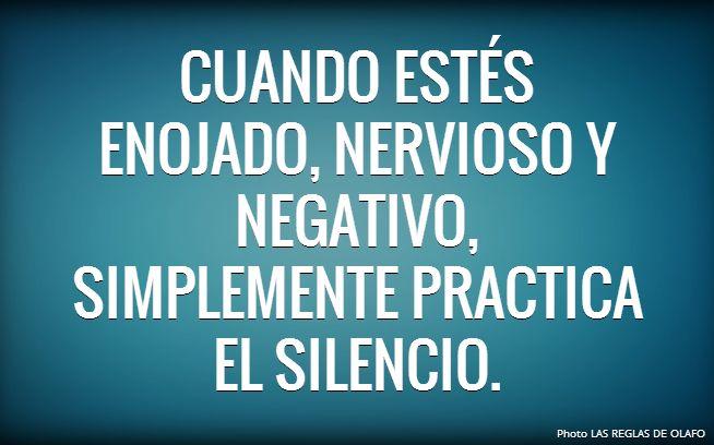 Guarda silencio, respira, deja de quejarte y sigue adelante. Es lo mejor que se puede hacer