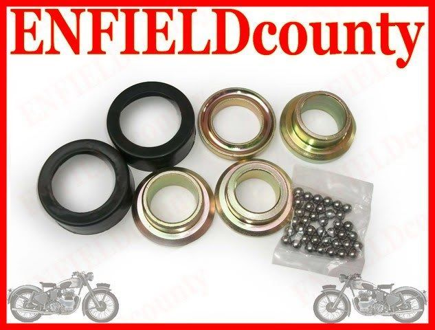 NEW ROYAL ENFIELD BULLET BALL RACE CONE KIT WITH RUBBER