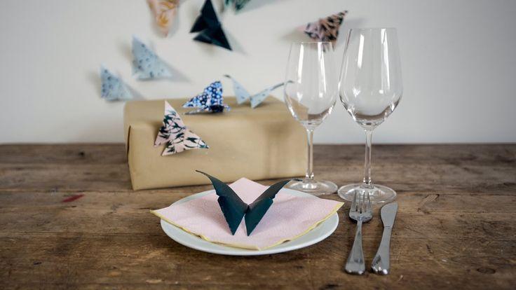 DIY: How to make origami butterflies by Søstrene Grene