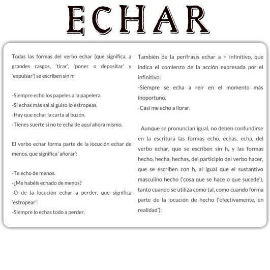 Verbo ECHAR.