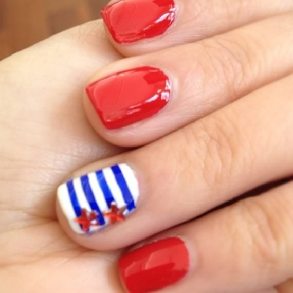 46 best 4th july nails images on pinterest belle nails 4th of july nail art design ideas 4 ur break provides some information about prinsesfo Image collections