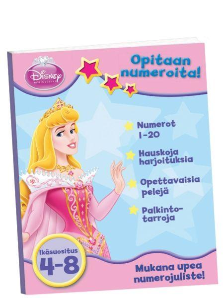 Prinsessat: Opitaan numeroita!  -harjoituskirja opastaa tunnistamaan ja kirjoittamaan luvut 1–20 – ja vieläpä ihanien prinsessojen seurassa. Numeroihin tutustutaan väritys-, tarra- ja piirustustehtävien avulla sekä erilaisissa hauskoissa peleissä. Aina kun uusi numero tulee tutuksi, voi palkita itsensä tarralla! Lisäksi mukana on hieno numerojuliste, joka auttaa pitämään opitut numerot mielessä.