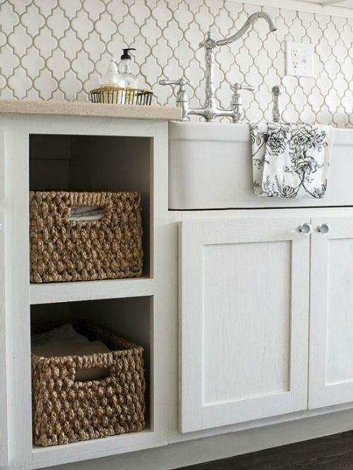 Quatrefoil/arabesque tile for backsplash in kitchen or laundry or bathroom
