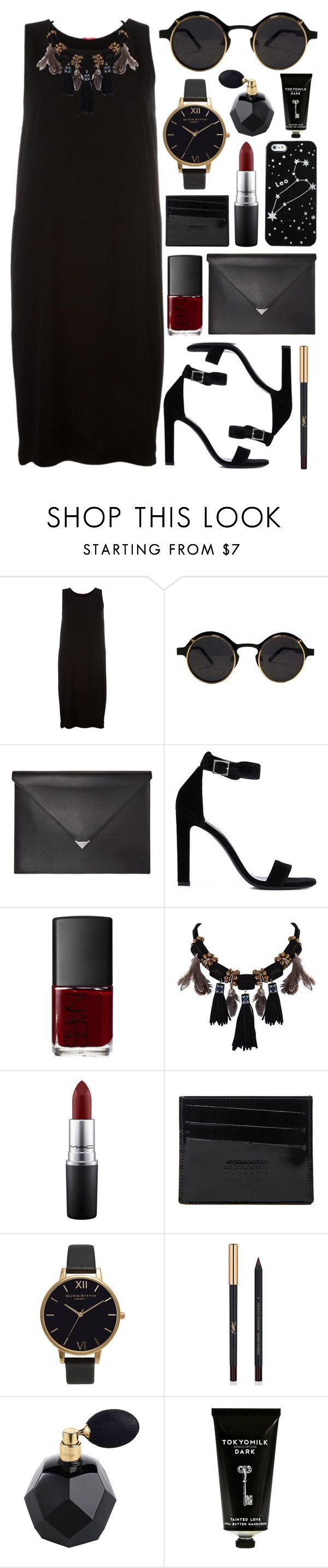 """""""Untitled #548"""" by clary94 ❤ liked on Polyvore featuring A.B, Alexander Wang, Yves Saint Laurent, NARS Cosmetics, Kate Spade Saturday, MAC Cosmetics, Maison Margiela, Olivia Burton and TokyoMilk"""