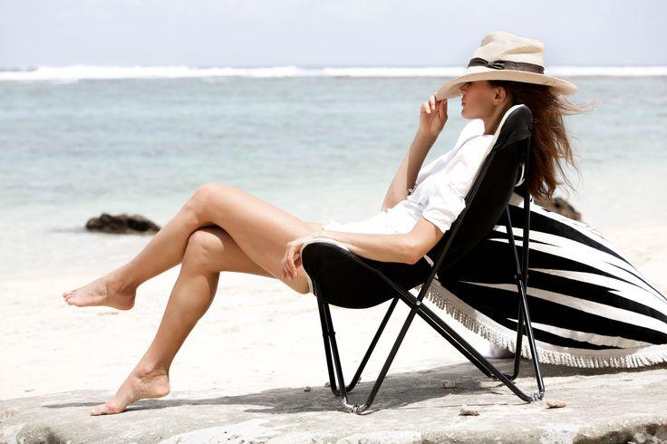 This shot. This girl. Our Santa Cruz folding Butterfly Beach Chair. SHOPNOW www.lovinsummer.com.au $79 FREEShipping Australia-wide.
