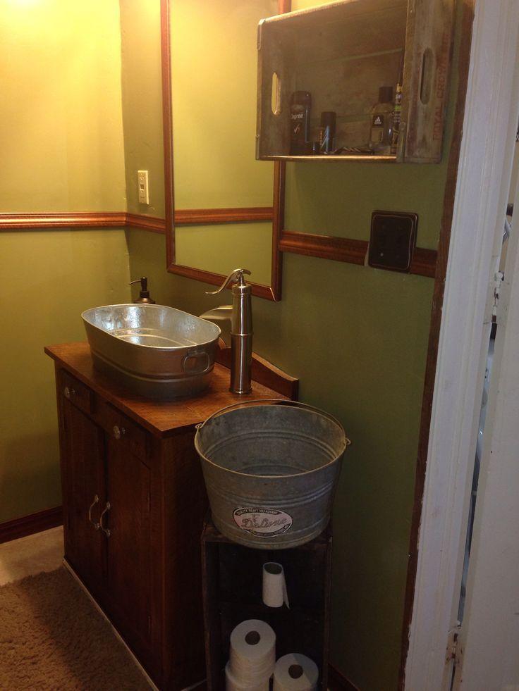 23 Galvanized Bathroom Sink Galvanized Sink Houzz Sociedadred Org Bathroom Sink Diy Rustic Sink Diy Sink Vanity