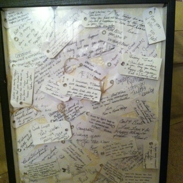 Wedding guest book alternative  This way guests can write a message of encouragement~