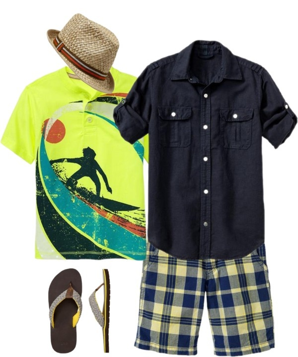"""Spring Break in Florida- outfit for little man"" by larsandlogan ❤ liked on Polyvore"