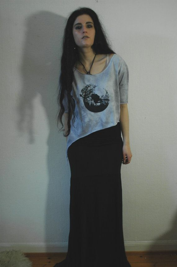nn x Old Hag -- HÄXSABBAT -- 3/4 Top Moon Grey on Etsy, $58.64