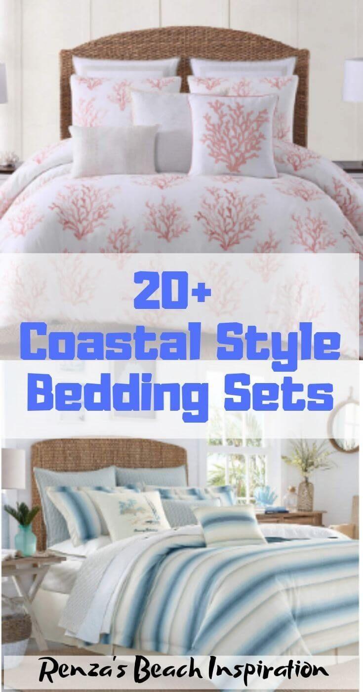 20 Coastal Bedding Sets For Beach Themed Bedroom Coastal Style