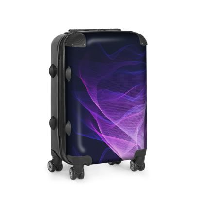 OUT OF THE BLUE by Dominique Vari on Suitcase . |  Contrado UK . |Travel in style and confidence with this innovative design on Suitcase. 'Out of the Blue' is a unique, seductive surreal design. The mysterious smokey graphic seems in constant motion, creating a new kind of generative art.