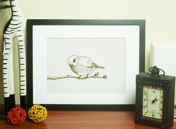 Cheerful bird illustration by HerissonenPromenade on Etsy