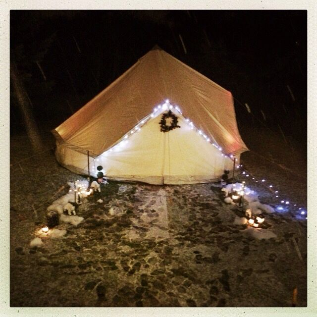 Winter wonderland - our garden party on Boxing Day...in a glawning!