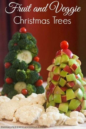 The girls and I put together these Healthy Holiday Fruit and Veggie Trees. I think this would great for a party or just an afternoon activity to get your kids to eat some more veggies!