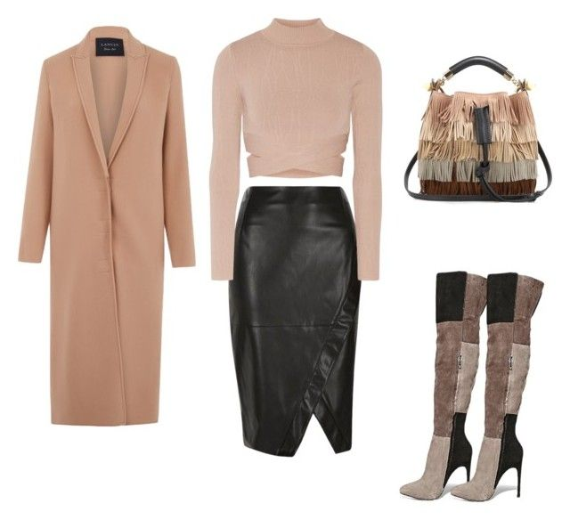 """""""Untitled #3"""" by adriana-elena-pusco on Polyvore featuring River Island, Jonathan Simkhai, Steve Madden, Lanvin and Chloé"""