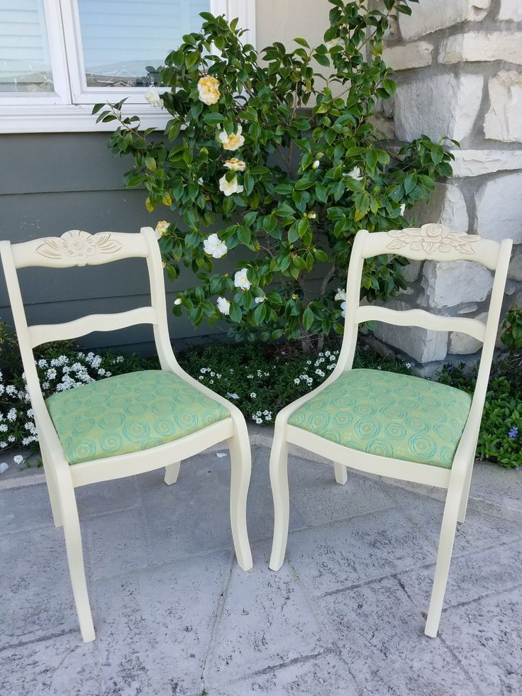 2 Reupholstered French Dining Chairs (SF / Bay Area Local Delivery Or Pick  Up )