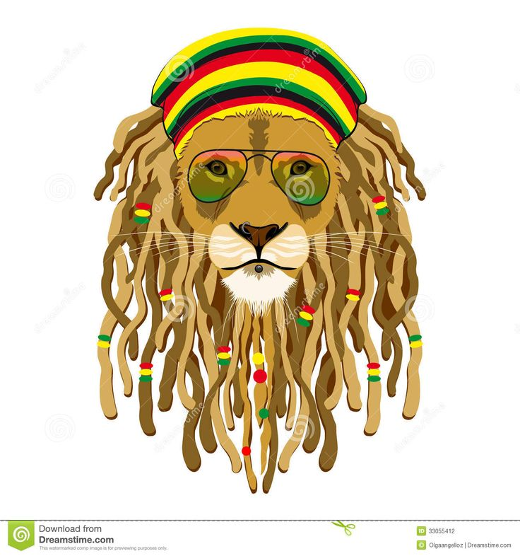 rasta lion with dreads - Google Search
