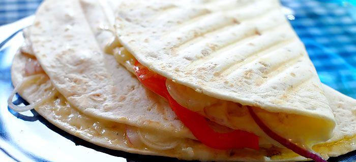 Quesadilla's met kip en roomkaas