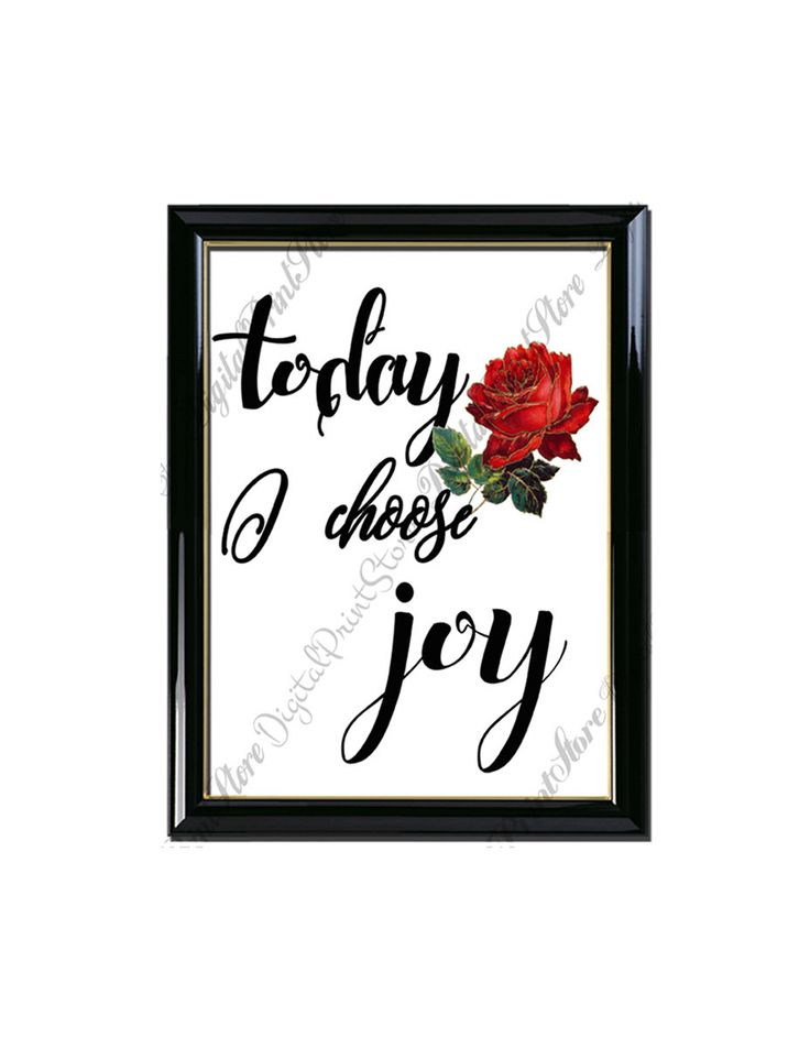 Quote Print Today I Choose Joy Decor Poster, Hand Written, Comercial Use by DigitalPrintStore on Etsy
