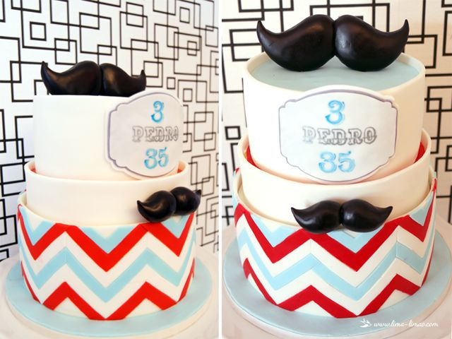 the cake for this moustache/man themed party